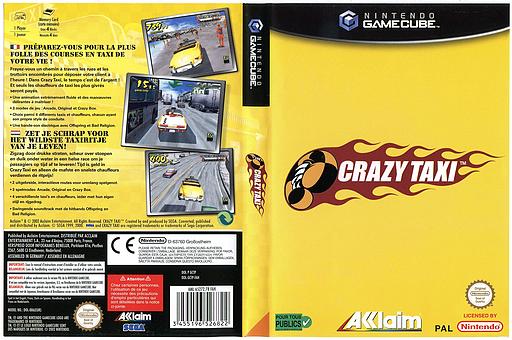 Crazy Taxi pochette GameCube (GCTP51)