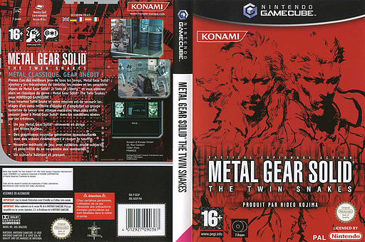 Metal Gear Solid: The Twin Snakes pochette GameCube (GGSPA4)