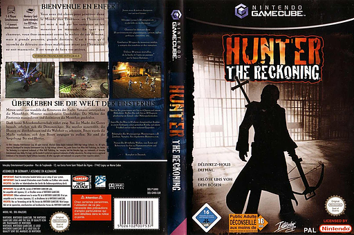 Hunter: The Reckoning pochette GameCube (GHNX71)