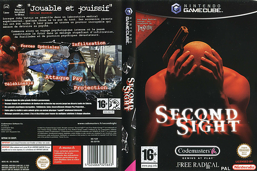 Second Sight pochette GameCube (GISP36)