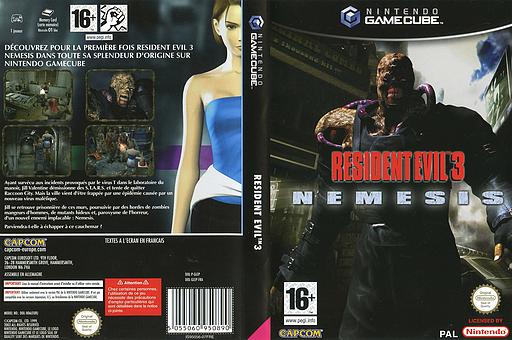 Resident Evil 3: Nemesis pochette GameCube (GLEP08)