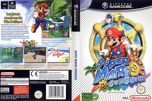 Super Mario Sunshine pochette GameCube (GMSP01)
