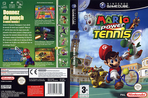 Mario Power Tennis pochette GameCube (GOMP01)
