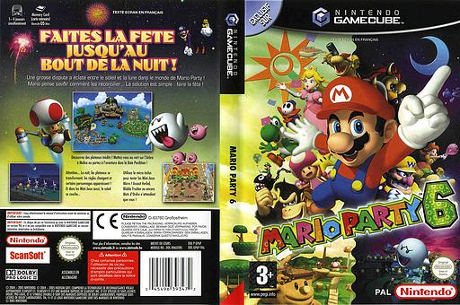 Mario Party 6 pochette GameCube (GP6P01)