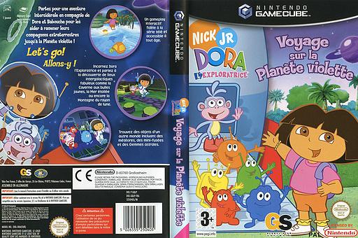 Dora l'Exploratrice: Voyage sur la Planète Violette pochette GameCube (GQLP54)