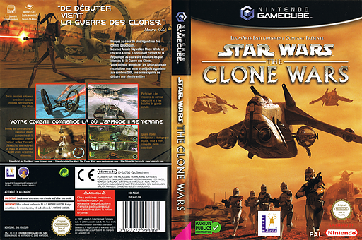 Star Wars: The Clone Wars pochette GameCube (GSXF64)