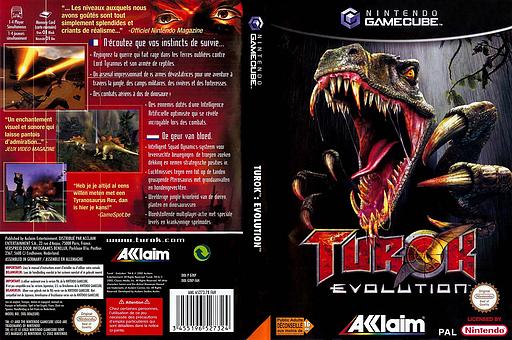 Turok Evolution pochette GameCube (GTKP51)