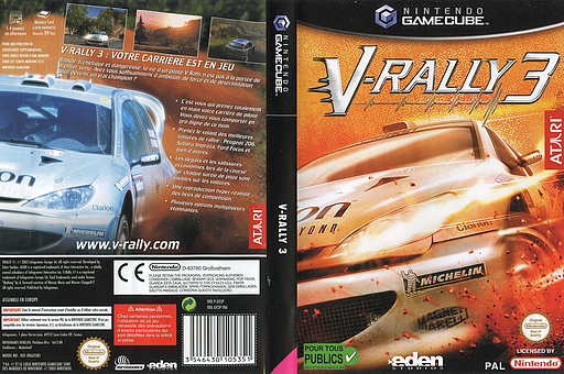 V-Rally 3 pochette GameCube (GV3P70)