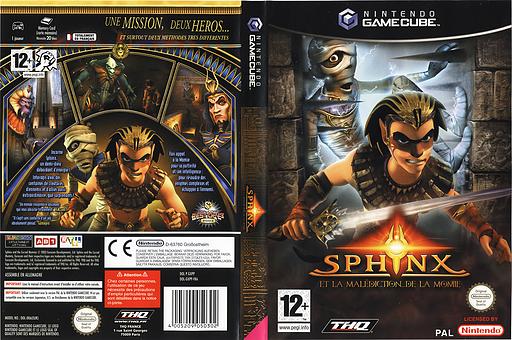 Sphinx et la Malédiction de la Momie pochette GameCube (GXPP78)