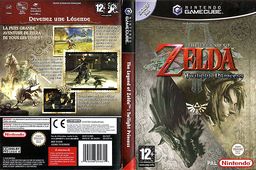 The Legend of Zelda: Twilight Princess pochette GameCube (GZ2P01)