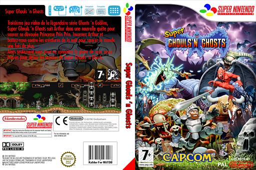Super Ghouls'n Ghosts pochette VC-SNES (JA4P)