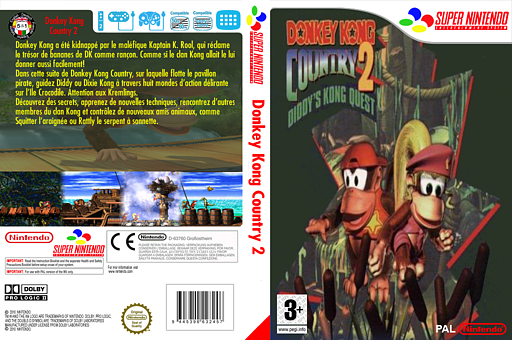 Donkey Kong Country 2: Diddy's Kong-Quest pochette VC-SNES (JBDD)