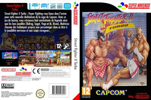 Street Fighter II Turbo:Hyper Fighting pochette VC-SNES (JBIP)