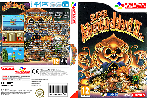 Super Adventure Island II pochette VC-SNES (JD8P)