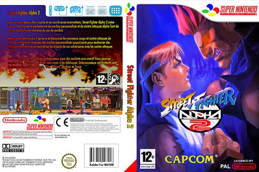 Street Fighter Alpha 2 pochette VC-SNES (JDCP)