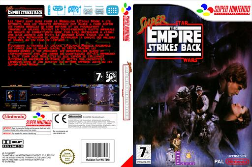 Super Star Wars : The Empire Strikes Back pochette VC-SNES (JDJP)