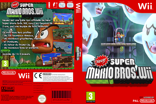 Newer Super Mario Bros. Wii pochette CUSTOM (KMNP03)