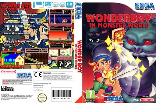 Wonder Boy In Monster World pochette VC-MD (MAVP)
