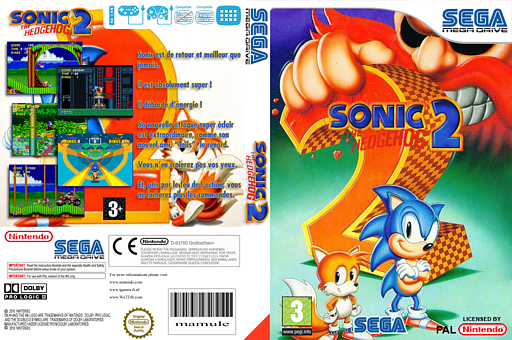 Sonic the Hedgehog 2 pochette VC-MD (MBBP)