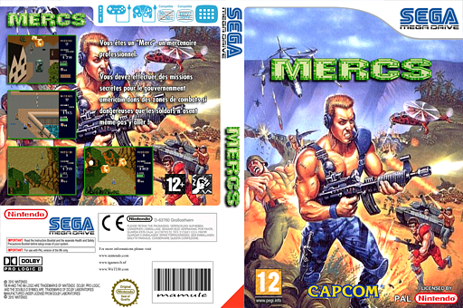 MERCS: Wolf of the Battlefield pochette VC-MD (MCRP)
