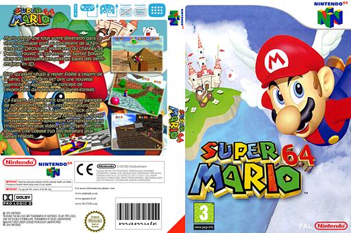 Super Mario 64 pochette VC-N64 (NAAP)
