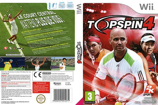 Top Spin 4 pochette Wii (R28P54)