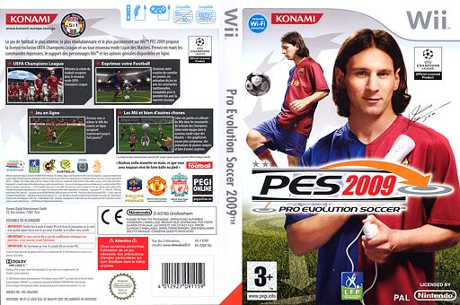 Pro Evolution Soccer 2009 pochette Wii (R2WPA4)
