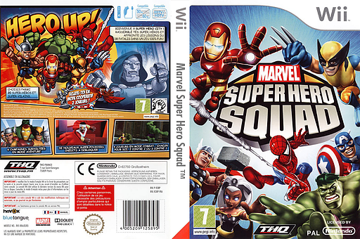 Marvel Super Hero Squad pochette Wii (R38P78)