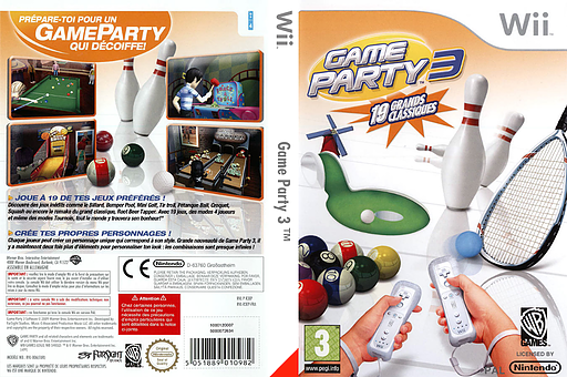 Game Party 3 pochette Wii (R3EPWR)