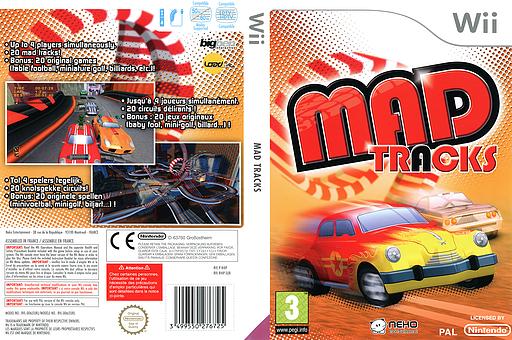 Mad Tracks pochette Wii (R4IPNK)