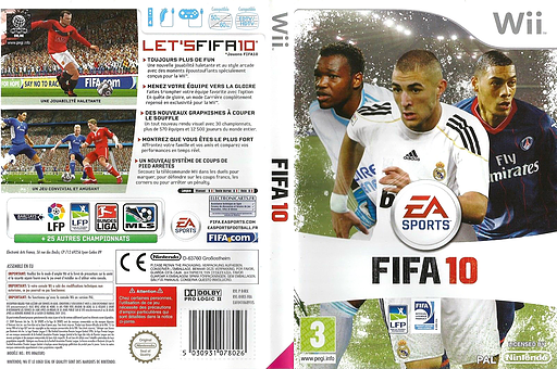 FIFA 10 pochette Wii (R4RX69)