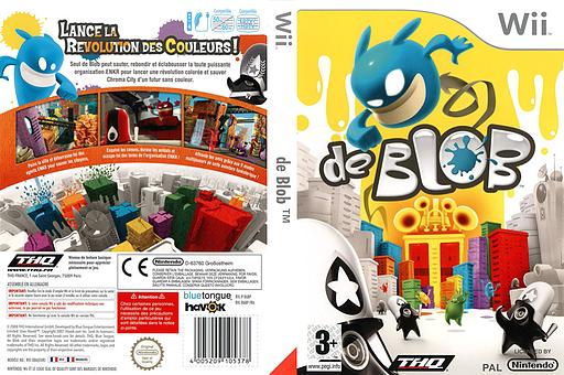 de Blob pochette Wii (R6BP78)
