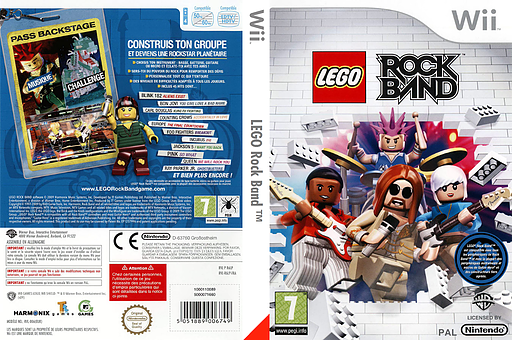 LEGO Rock Band pochette Wii (R6LPWR)