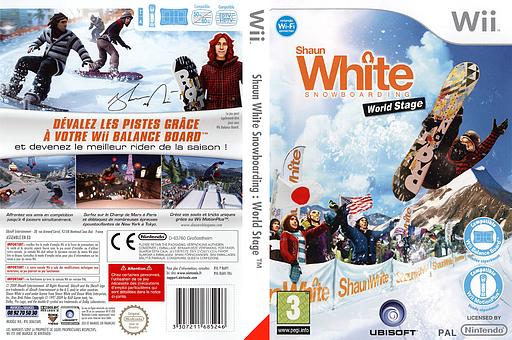Shaun White Snowboarding:World Stage pochette Wii (R6NP41)