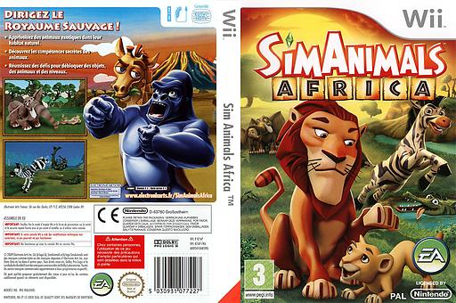 SimAnimals Africa pochette Wii (R7AP69)