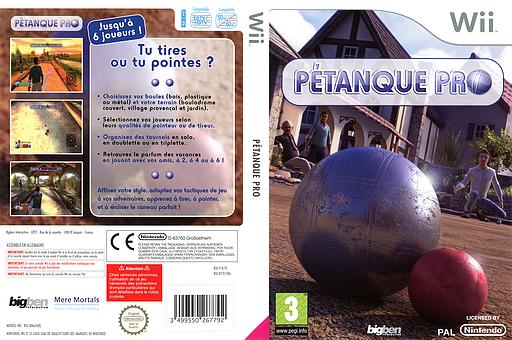 Pétanque Pro pochette Wii (R7TFJW)