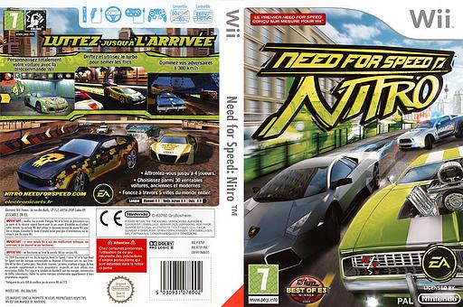 Need for Speed:Nitro pochette Wii (R7XP69)
