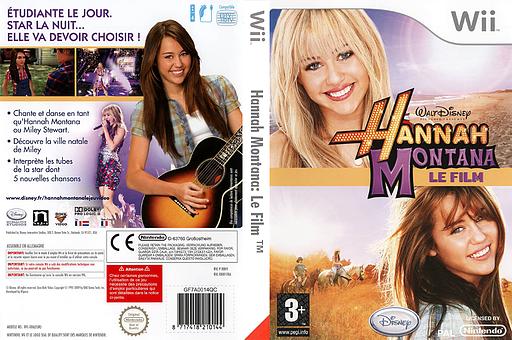 Hannah Montana:Le Film pochette Wii (R8HX4Q)