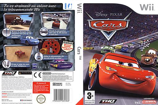 Cars pochette Wii (RCAX78)