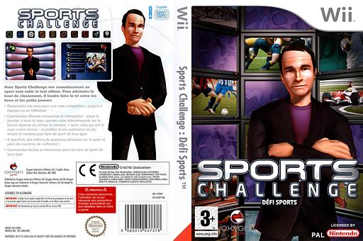 Sports Challenge:Defi Sports pochette Wii (RCKPGN)