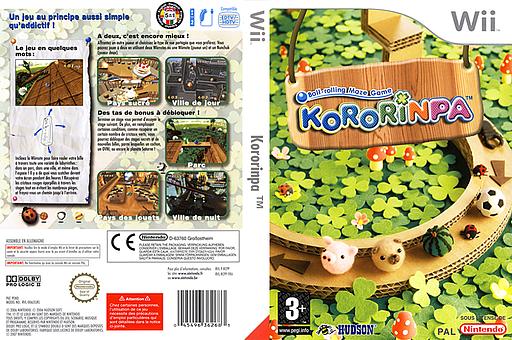 Kororinpa pochette Wii (RCPP18)