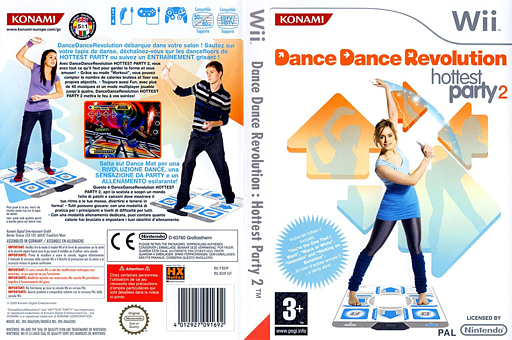 Dance Dance Revolution:Hottest Party 2 pochette Wii (RD4PA4)