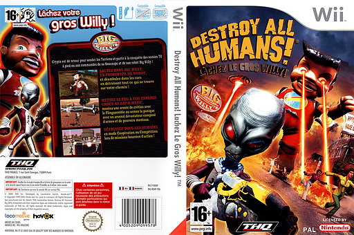 Destroy All Humans! Lachez Le Gros Willy! pochette Wii (RDHP78)