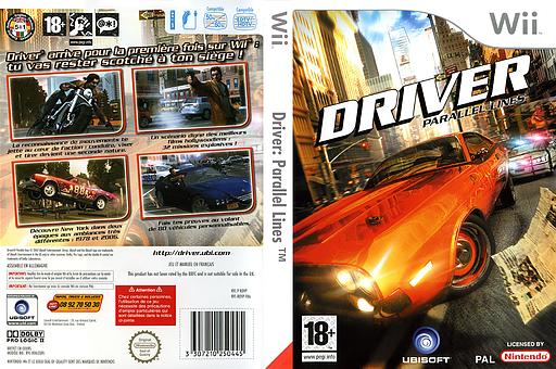 Driver:Parallel Lines pochette Wii (RDVP41)