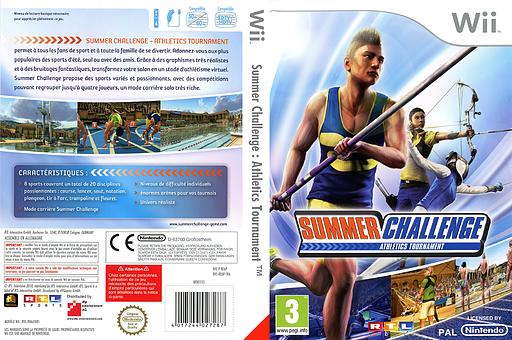 Summer Challenge:Athletics Tournament pochette Wii (RE6PRT)