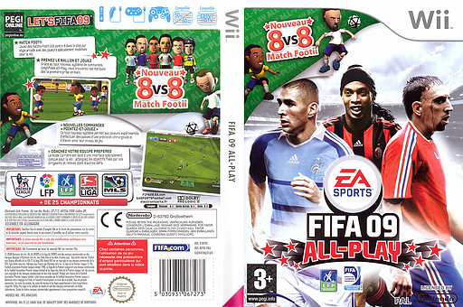 FIFA 09 All-Play pochette Wii (RF9P69)