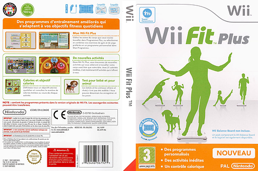 Wii Fit Plus pochette Wii (RFPP01)