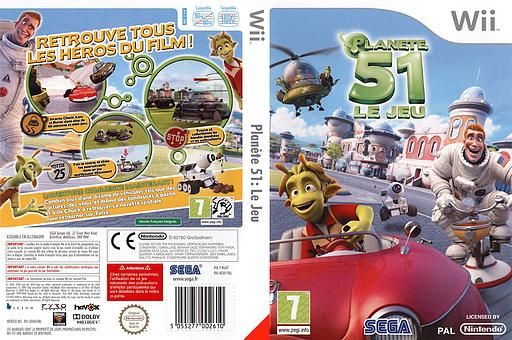 Planète 51:Le Jeu pochette Wii (RGAP8P)