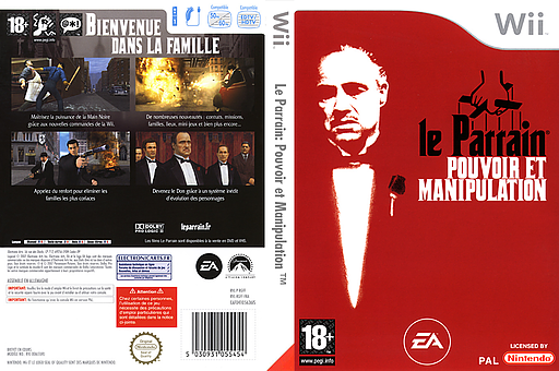 Le Parrain:Pouvoir et Manipulation pochette Wii (RGFP69)