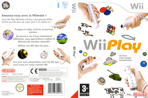 Wii Play pochette Wii (RHAP01)